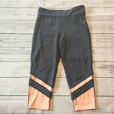 Gap Fit Legging Yoga Workout Athletic Pants Youth Girls Gray Peach Size L #3