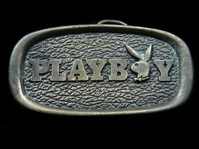 RJ15128 VINTAGE 1970s **PLAYBOY** MAGAZINE ADVERTISEMENT BELT BUCKLE