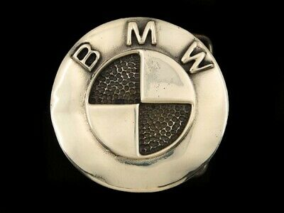 RD13152 VINTAGE 1970s **BMW** CAR COMPANY LOGO SOLID BRASS BELT BUCKLE