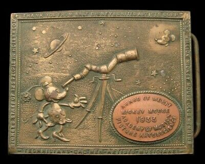 Qj16153 Great Vintage **Mickey Mouse** 1933 Motion Picture Academy Award Buckle