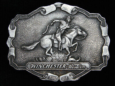PK01156 VINTAGE 1970s **WINCHESTER WESTERN** SHOTGUN & FIREARM CO. BELT BUCKLE
