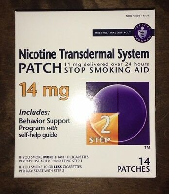 Lot of 2 Sealed Box Habitrol STEP TWO Nicotine Transdermal Patch 14mg 28 Pieces
