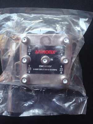 NEW ANTRONIX High Performance Digital 6-Way Cable/Antenna Splitter 5-1002 MHz