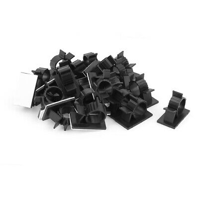 22 Pcs Self-adhesive Wire Cable Tie Clamp Sticker Clip Holder Fixer Black