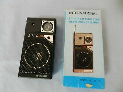 Vintage Transistor Pocket Radio in Original Box