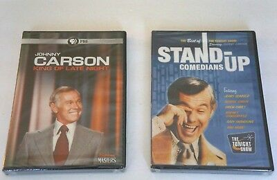 JOHNNY CARSON King Of Late Night & Tonight Show Comedians NEW Sealed TWO DVD Lot