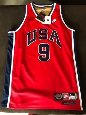 promo code d9321 06096 NWT VINTAGE MICHAEL JORDAN Nike USA Olympic Dream Team RED Jersey XL 1984 RC