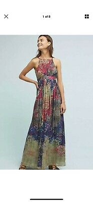 e4024d33b432 NWOT ANTHROPOLOGIE BHANUNI By Jyoti Abstract Floral Maxi Dress Size ...