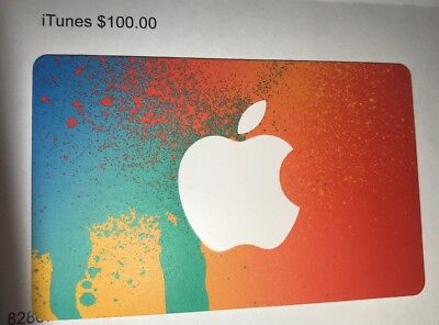 $100 US iTunes Gift Card Certificate Apple USA USD 100% Genuine Free Shipping