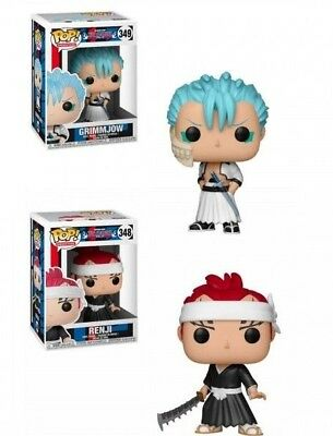 Funko Pop! Animation: Bleach 2 Pop Bundle Set Grimmjow & Renji w/ Protector