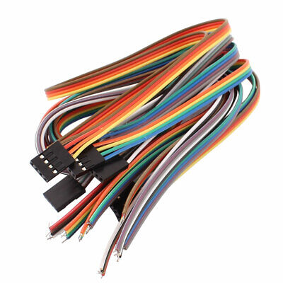 10PCS 2.54mm Pitch 4P Female Breadboard Single Head Jumper Wire Cable 40cm Long