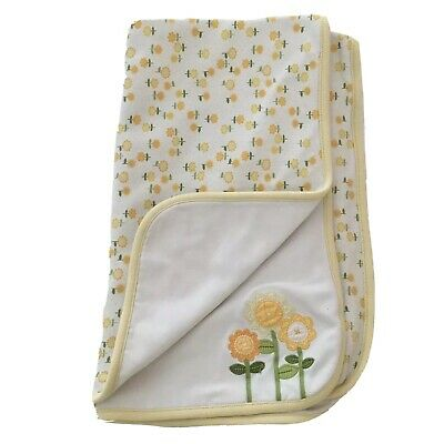 GYMBOREE Baby Blanket Yellow & White Flowers 2007 Girls