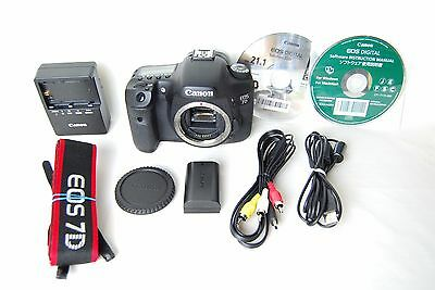 Near Mint Canon EOS 7D 18.0 MP Digital SLR Camera Black (Body Only) From Tokyo