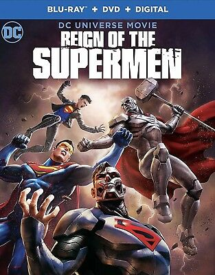 Dc Comics Reign Of The Supermen(Blu-Ray+Dvd+Digital)W/Slipcover New