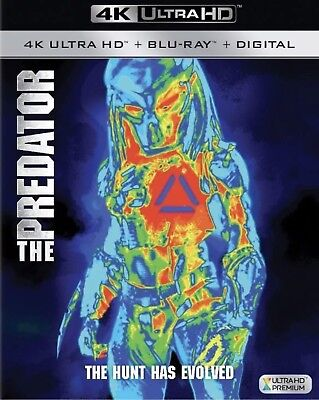 The Predator 2018(4K Ultra Hd+Blu-Ray+Digital)W/slipcover New