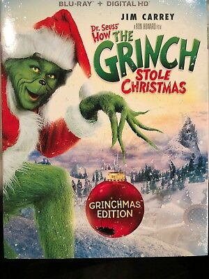 Dr.seuss How The Grinch Stole Christmas With Slipcover(Blu-Ray+Digital Hd)New