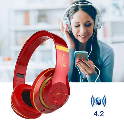 Headphones Bluetooth Headset Wireless Noise Cancelling Over Ear With Microphone