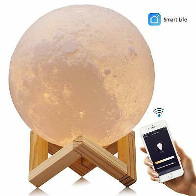 3D Printing Moon Night Light Lamp LED Moonlight Remote Control USB Charging 15cm