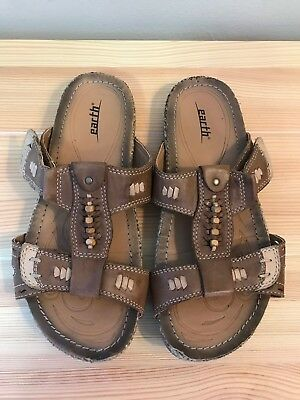 72745c59378c EARTH ABACA ALMOND Brown Leather Sandals Women s Size 6.5 -  24.99 ...