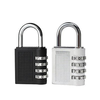 4 Digit Combination Padlock Travel Suitcase Luggage Security Password Lock Healt