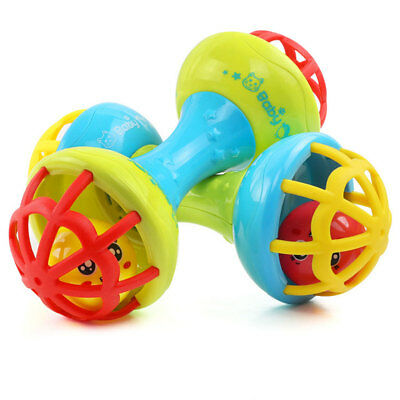 Kids Baby Rattle Toy Teether Grasping Gums Hand Bell Educational Toy Gift Health