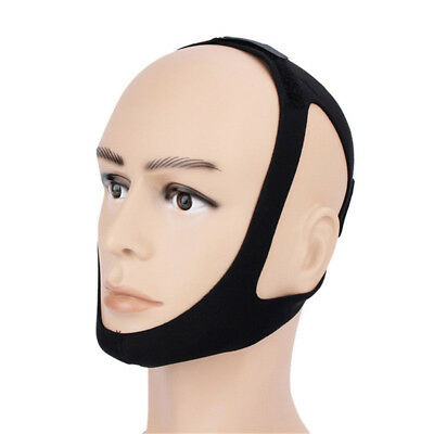 Anti-Snore Stop Snoring Sleep Apnea Strap Belt Jaw Solution Chin Support Aid CA