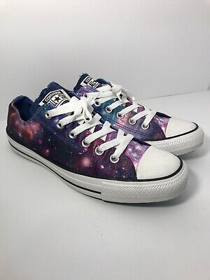 f5e35d935315c2 CONVERSE ALL STAR Satin Space Cosmic Galaxy EXCELLENT Women 9 Mens 7 ...
