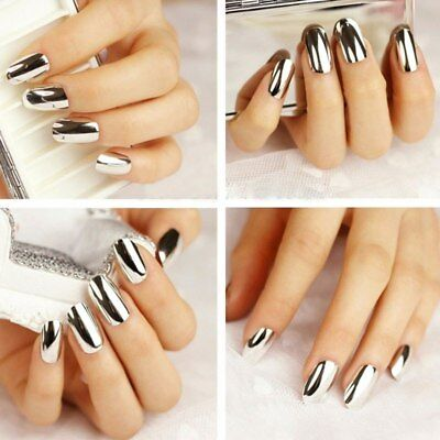 12pcs Nail Tip Artificial False Acrylic Design Fake French Full Nails Art Set