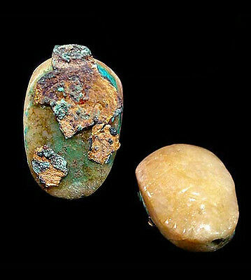 A quartzite scarab with traces of bronze and gold,  525-332 B.C. Egypt a6442