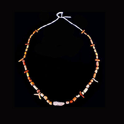 Roman red coral and glass bead necklace. x6491