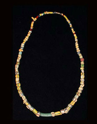 A beautiful necklace of Islamic glass paste beads; 17th - 18th C A.D. -  a5880