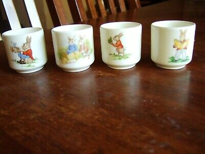 Bunnykins egg cups x 4 ( postage at your cost from post code 3796)