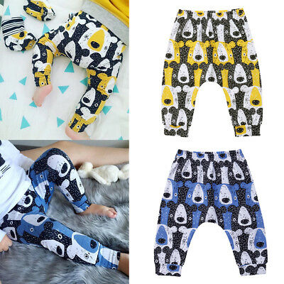 UK Infant Kid Baby Boy Girl Cute Animal Bottoms Harem PP Leggings Pants Trousers