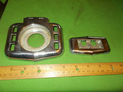 Great Vintage Chrome Bathroom Tooth Brush Cup Glass Holder With Mounting Bracket