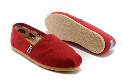 Authentic Toms Womens Classic Canvas RED Free Ship
