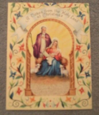Vintage Holy Land Jerusalem Christmas Card With Sand From Israel