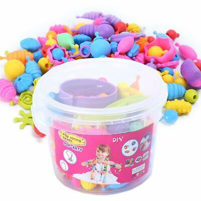 Pop Snap Beads Fashion DIY Jewelry Making Kit Necklace and Bracelet 165 Pieces V