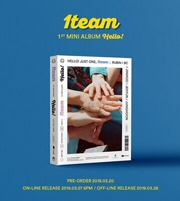1TEAM - HELLO! (1st Mini Album) CD+Photobook+Photocard+Postcard+Sticker