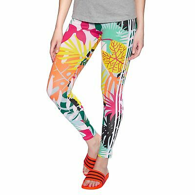 3dba7583868 Adidas Originals 3 Stripe Womens Pants Leggings - Tropical Print All Sizes