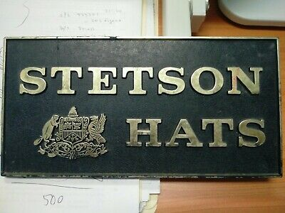 stetson hats advertising sign