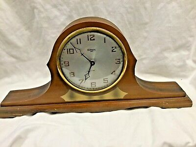Vintage Wind Up Gilbert 1807 8 Day Mantel Clock Estate Fresh 4U2FIX L@@K