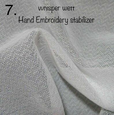 Whisper weft- hand embroidery stabiliser - for sewing - applique - embroidery