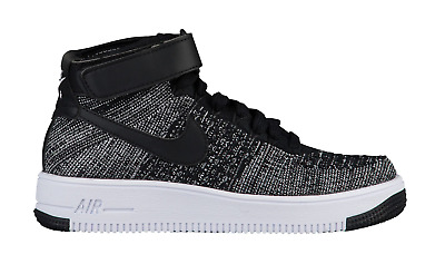 NIKE JUNIOR AIR Force 1 AF1 Ultra Flyknit MID GS sz 6y 6 [862824 001] oreo