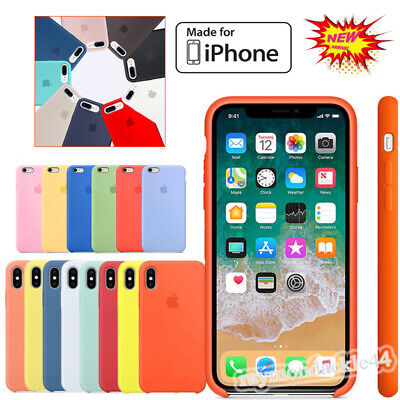 Genuine Original Official Silicone Rubber Case Cover For iPhone XS Max XR 8 7 6S
