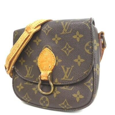 724024082f2 Authentic LOUIS VUITTON M51244 Monogram Mini Saint Cloud Shoulder Bag  PVC Le.