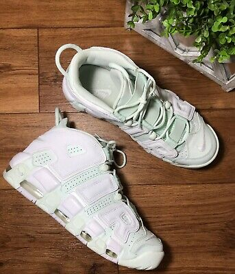 finest selection 7d764 95c14 Nike Air More Uptempo Barely Green (Mint)   White 917593-300 Women s Size