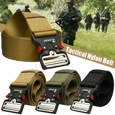 1.89'' Wide Tactical Nylon Belt Heavy Duty Army Military Training Trousers Belts