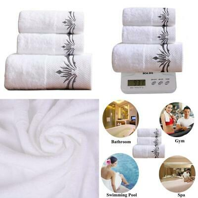 3 Pcs Luxury Cotton Bath Towel Sets Thick And Soft Exquisite Embroidery Patterns