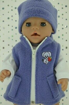 """Play n Wear Doll Clothes To Fit 17"""" Baby Born JACARANDA JACKET~BEANIE~TOP"""