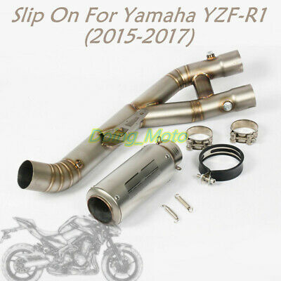 For Yamaha Slip On YZF-R1 Motorcycle Exhaust Pipe 2015 2016 2017 Mid Tail Escape